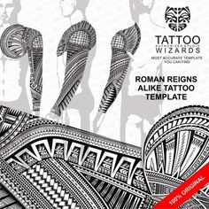 Tattoo Wizards is one of the most trusted Tattoo Studio for traditional Maori Tattoo Design (Ta Moko) and Samoan Tattoo. which is cult popular internationally and has made a strong resurgence as a modern Tattoo Art trend. Tatuaje Roman Reigns, Roman Reigns Tattoo, Tattoo Roman, Tattoo Studio, Body Art Tattoos, Sleeve Tattoos, Tattoo Art, Arte Do Hip Hop, Samoan Tribal Tattoos