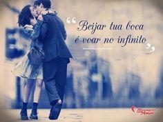 Beijar tua boca é voar no infinito. #beijo #DiaDoBeijo #infinito