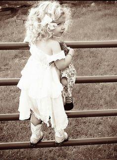 かわいい子供 白と黒の世界アート作品集