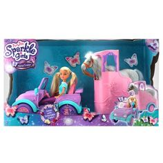 Sparkle Girlz Jeep with Horse Trailer