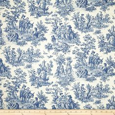 Charmed Life Toile Cornflower Blue and Ivory Home Decor Fabric By Waverly Blue Pillow Covers, Blue Pillows, Decorative Pillow Covers, Accent Pillows, Toss Pillows, Duvet Covers, Drapery Panels, Drapery Fabric, Wall Fabric