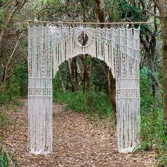 Gorgeous macrame arbor #macrame #weddingarbor