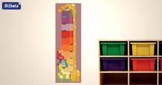 Medidor infantil Stikets jirafa de colores