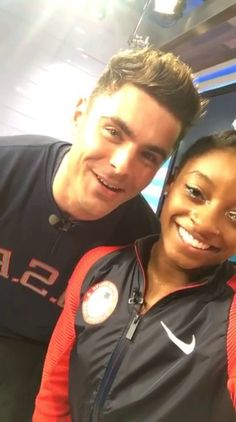 Well wishes to Simone Biles from Zac Efron. Too Cute!!