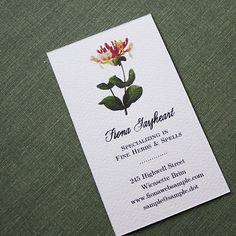 vintage botanical business card.