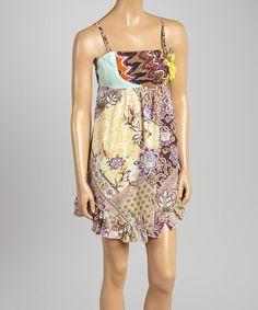 This Yellow Floral Empire-Waist Dress is perfect! #zulilyfinds