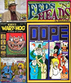 Happy Birthday Hall of Fame Artist Gilbert Shelton!  An American cartoonist and underground comix artist, he is the creator of The Fabulous Furry Freak Brothers, Fat Freddy's Cat, Wonder Wart-Hog, Philbert Desanex, and Not Quite Dead. ipi/Wiki  From The i