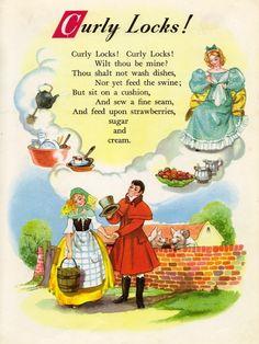 Gotta love the Curly Locks! Nursery Rhyme Land illustrated by Hilda Boswell