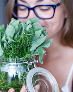 Holiday tip: put a jar of fresh herbs out as decoration and enjoy our soups for lunch topped with your favorite herbs as you prep dinner with friends and family!