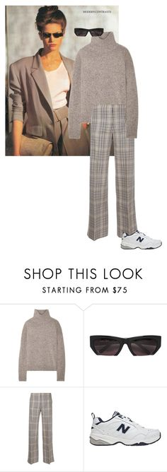 """Untitled #349"" by frederikkematilder ❤ liked on Polyvore featuring Vince, Grey Ant, Irene and New Balance"