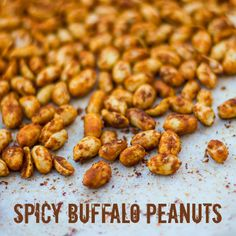Spicy Buffalo Roasted Peanuts from: The Black Peppercorn