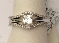 14k White Gold Prong Set Solitaire Enhancer Diamonds Ring Guard Wrap (0.26ctw) by RG&D... #gold #diamonds #ringguard #wrap #enhancer #fashion #jewelery #love #gift #ringjacket #engagement #wedding #bridal #engaged #whitegold #yellowgold #online #shopping #jewelry #pintrest #follow #richmondgoldanddiamonds
