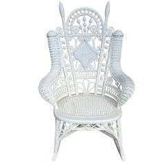 "Antique Victorian Wicker ""Emma"" Rocker 