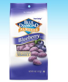 Got a sample of these blueberry almonds!  Not sure how to feel about them yet but maybe they'll help me#getyourgoodgoing