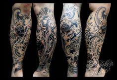 sick calf tattoo design
