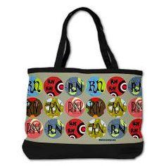 Colorful RN Circles Nurse Shoulder Bag > Nurse and Nursing Student Shoulder Bags > StudioGumbo - Funny T-Shirts and Gifts