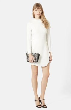 Topshop Asymmetrical Wrap Body-Con Dress available at #Nordstrom