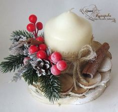 70 Simple And Popular Christmas Decorations; Centerpiece Christmas, Christmas Advent Wreath, Christmas Candles, Rustic Christmas, Xmas Decorations, Simple Christmas, Christmas Themes, Handmade Christmas, Christmas Crafts