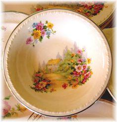 Pink Cottage Bowl