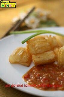 Ubi goreng lombok khas Makassar