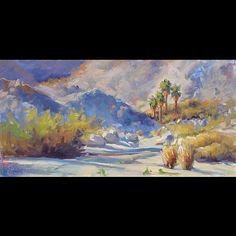 Afternoon Oasis, borrego springs, desert by KIRSTEN N ANDERSON Oil ~ 8 x 16