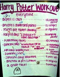 NO! THIS IS NOT ALRIGHT! HARRY POTTER IS AMAZING AND YOU ARE RUINING IT WITH EXERCISE! HORRIBLE HORRIBLE EXERCISE! NO!