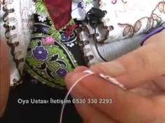 Урок по шита дантела кене - 5 част - YouTube