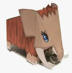 This animal papercraft is a cute Mammoth, designed by madeinpaperland. There are other Mammoth papercrafts at the site, please visit here: Mammoth Paper Mo Stone Age Animals, Foam Crafts, Paper Crafts, Paper Art, Elephant Template, Origami Templates, Box Templates, Animal Art Projects, 6th Grade Art