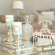 Sectionals For Small Living Rooms Home Decor myworld myhome Makeupbeautyluv Canada Silver Living Room, Small Living Rooms, Living Room Designs, Rooms Home Decor, Cheap Home Decor, Living Room Decor, Tray Decor, Decoration Table, Ottoman Decor