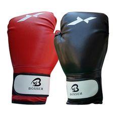Profesional Tinju Sarung Tangan 1 pair Olahraga Memerangi MMA Tinju Golves Sarung Tangan PU Kulit dengan Lapisan EVA untuk Pelatihan Kompetisi SS