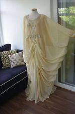 Arabic kaftan evening dress gown moroccan farasha maxi jalabiya cream khaleeji