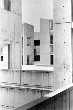 transition:  salk institute by louis i kahn, la jolla, california, 1966 i used to bodyboard on the beach next to this place & now am not sure if i went inside, or imagined it