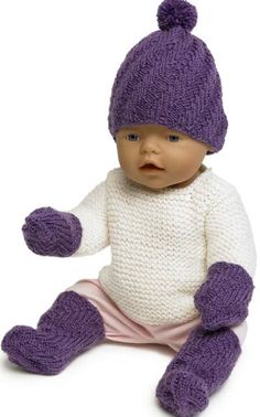 Nordic Yarns and Design since 1928 Jumper Patterns, Knitting Patterns Free, Free Knitting, Baby Knitting, Knitting Dolls Clothes, Knitting Socks, Baby Born Clothes, Knit Crochet, Crochet Hats