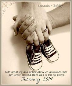 Shoe pregnany announcement