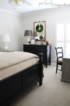BEDROOM DECORATING IDEAS | PERFECTLY IMPERFECT | CHALK PAINT | CHALK PAINT COLORS | HOW TO PAINT FURNITURE
