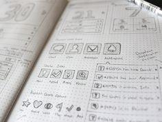 Creative examples of ui and wireframe sketches дизайн ui ux, дизайн иконки, Wireframe Design, Ui Ux Design, Icon Design, Web Design Firm, Web Design Company, Well Designed Websites, Sketchbook App, Ranger, Dot Grid Notebook