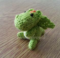Mini Crocheted Dragon Keyring