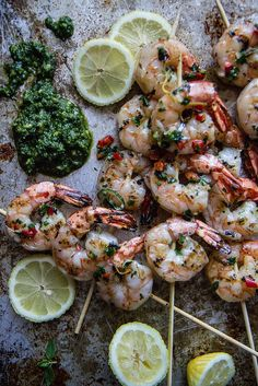 Grilled Shrimp Skewers with Coconut Compound Butter
