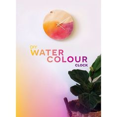 Walls looking a little plain jane? Make this Watercolour Clock to brighten them up! #DIY #watercolor #bloglovin #vsco #vscocam