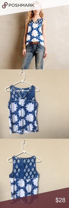 Akemi + Kin Morning Glory Top From Anthropologie. Great condition! Size small. Anthropologie Tops Tank Tops