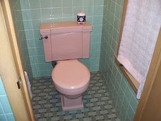The Vintage Life: Our Vintage Pink Bathroom