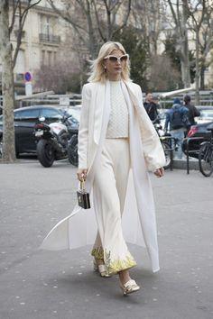 blazer + tunic + sleeveless top + trousers