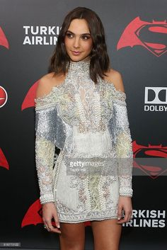 Actress Gal Gadot attends the 'Batman v. Superman: Dawn of Justice' premiere at Radio City Music Hall on March 20, 2016 in New York City.