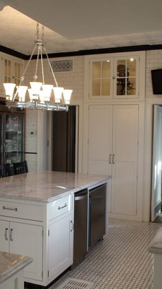 Authentic 1927 Kitchen Vintage Remodel - White White White and Black
