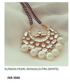 These trendy mangalsutra designs by Aatman Jewellery which are made in silver and kundan, are beautiful fusion of traditional and contemporary art. Indian Wedding Jewelry, Bridal Jewelry, Beaded Jewelry, Silver Jewelry, Indian Bridal, Antique Jewelry, Bridal Bangles, Indian Weddings, Silver Rings