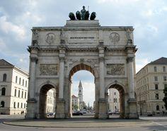19TH CENTURY, Neo-Classicism, Germany - Friedrich Von Gärtner (1782-1847): Siegestor, 1844. (modelled on the Arch of Constantine in Rome)