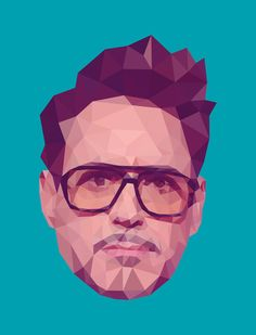 Tony Stark by Jung Gang Age Of Ultron, Jack Nicholson, Pharrell Williams, Breaking Bad, Tony Stark, Low Poly, Assassin, Kanye West, Justin Maller