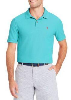 Izod Men's Big & Tall Short Sleeve Polo - Blue Radiance - 2Xlt