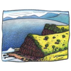 Descending the escarpment , Era Beach, by Reg Mombassa. From a selection of signed, limited edition prints by Reg Mombassa available at The SMH Shop. Buy now.
