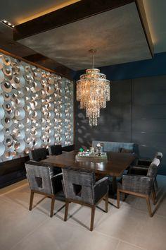 wanddeko ideen küche wandpanaeele schöner leuchter abgehängte decke
